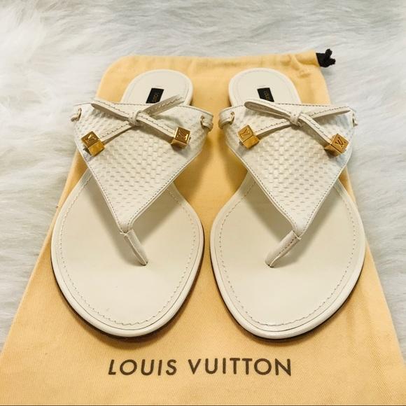 Louis Vuitton Dice Flat Thong Sandals